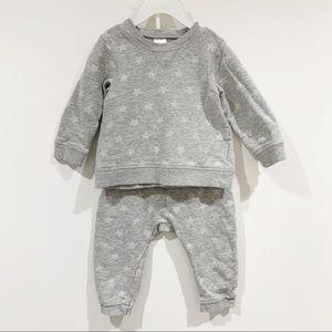 H&M baby unisex stars two piece joggers sweatshirt